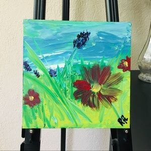 LP Original Floral Acrylic Painting